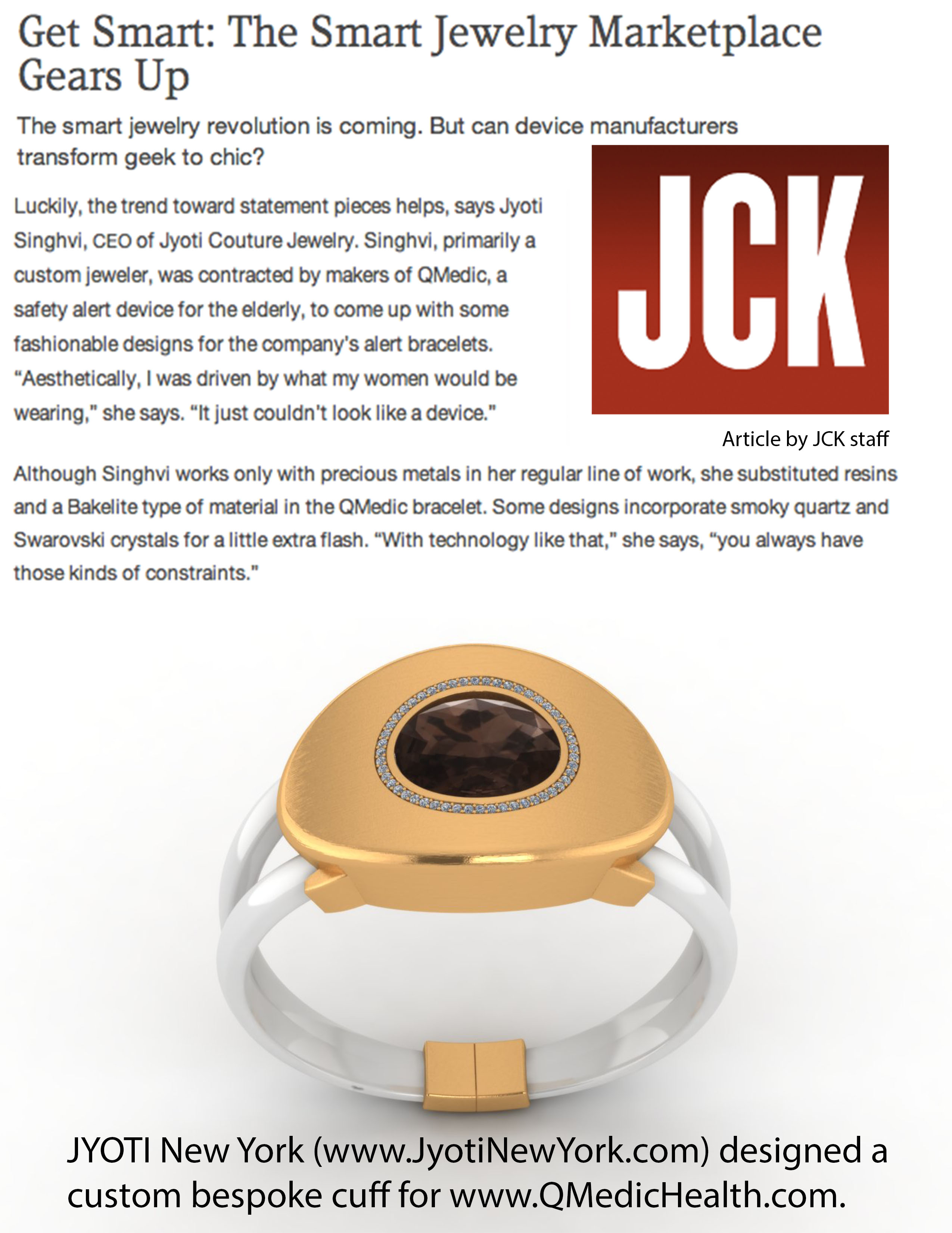 jck-magazine wearable computing cuff Jyoti Singhvi JYOTI New York Jewelry