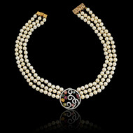 Bubbles Necklace in Pearl Strands