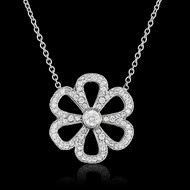 Coeur Flower Diamond Necklace