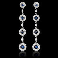 Bubbles Diamond & Sapphire Earrings