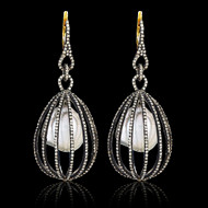 Royal Cage Pearl Earrings