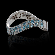 Bubbles Blue Topaz and Diamond Bracelet