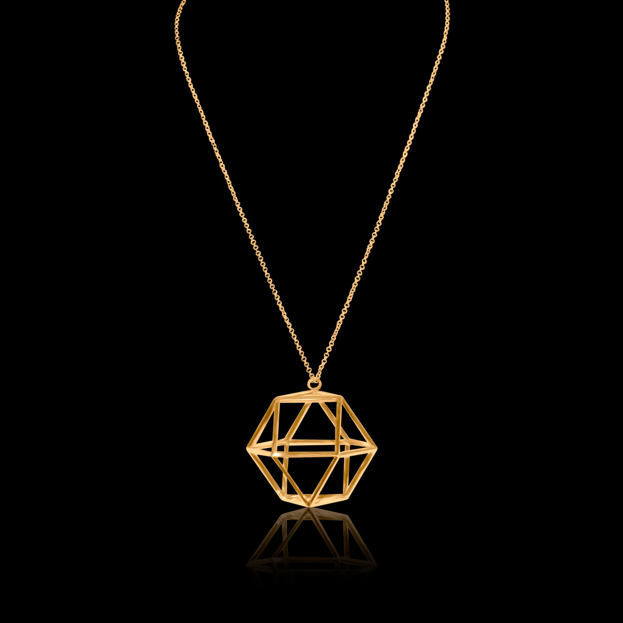 star pendant gold pendants octagon damascene