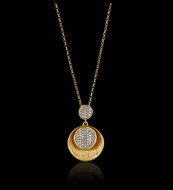 "Gold ""Just Because"" Satin Moon Pendant"