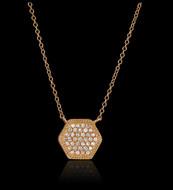"Diamond ""Just Because"" Hexagon Coeur Necklace"