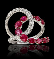 """Just Because"" Entwine Diamond and Ruby Ring"