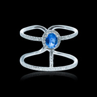 Crown Jewel Sapphire and Diamond Ring