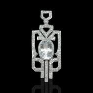 Aqua Marine & Diamond Necklace