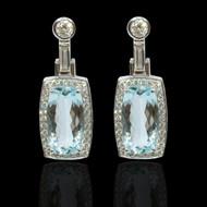 Aqua Marine and Diamond Manhattan Earrings