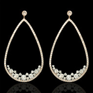 Bubbles Diamond Pear Drop Earrings
