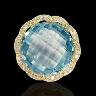 Candylicious Bubbles Diamond & Blue Topaz Cocktail Ring