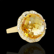 Candylicious Bubbles Diamond & Citrine Cocktail Ring