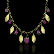 Going With The Flow Necklace Tourmaline & Gold
