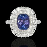 Tanzanite & Diamond Aura Ring