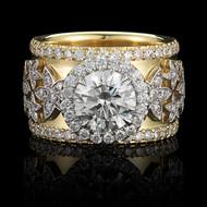 Tranquil Jasmine Garden Anniversary Ring