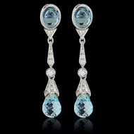 Aqua Marine and Diamond Earrings