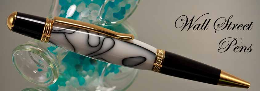 handcrafted, custom made pens in the wall street ii style | great
