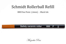 Schmidt 888 Rollerball Refill, Black Ink, Fine Point (.6mm)
