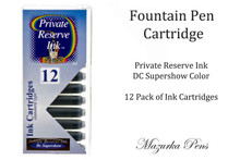 Fountain pen ink cartridges - DC Supershow color, Pack of 12 cartridges