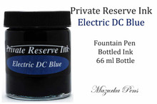 Private Reserve Fountain Pen Liquid Bottled Ink - Electric DC Blue color