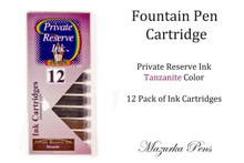 Private Reserve Ink Fountain Pen Cartridge (12 Pk) Tanzanite