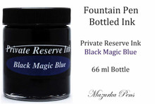 Black Magic Blue Color - Private Reserve Fountain Pen Ink - 66ml bottle of liquid fountain pen ink