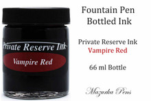 Private Reserve Ink - Vampire Red color, 66 ml bottled liquid fountain pen ink