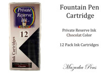 Chocolat 12 Pack of Fountain Pen Ink Cartridges