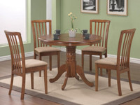 Round Oak 5 Piece Dining Set