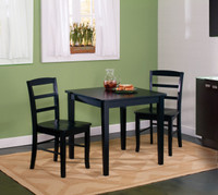 Madrid 3 Piece Black Table Set