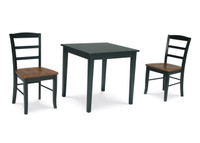 Madrid 3 Piece Black/Cherry Table Set