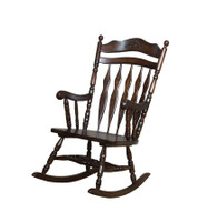 Colonial Rocker in Medium Brown Finish