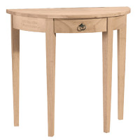 Half Round Sofa Table With 1 Drawer