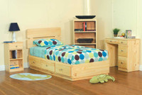 Pine Bedroom 5 Piece Set, Twin