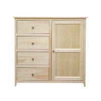 Little Neck Dresser 4 Drawers & 1 Door