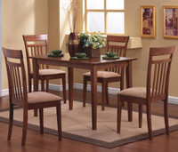 Alpha, 5 Piece Dining Set WALNUT