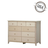 Shaker Dresser With Nine Drawers in Birch