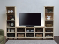 Hudson TV Media Stand with Towers