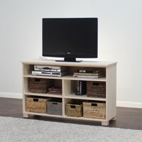 "Ellis TV Media Stand With Open Shelving 30"" Height"