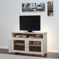 "Ellis TV Media Stand With Glass Doors 30"" Height"