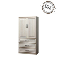 Raised Panel Armoire, w/ Doors & Drawers