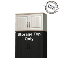 "Raised Panel Storage Top w/  Doors, 24""Deep"