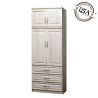 Raised Panel Armoire, w/ Storage Top
