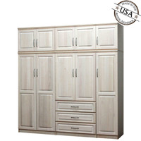 Raised Panel Wall Closet System 6 Piece Set