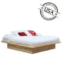 King Platform Bed in Pine