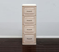 Raised Panel File Cabinet With 4 Drawers