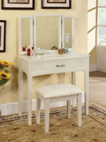 Vanity Table  In White