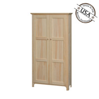 Pantry With 2 Flat Panel Doors