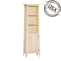 Bookshelf With 1 Door And Slanted Top