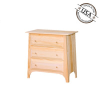 Chest With 3 Drawers And Slanted Top